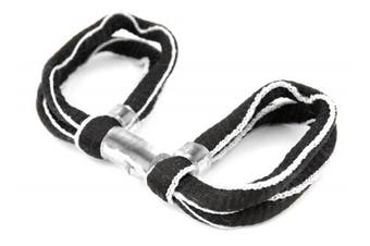 (Black / White, Double Loop) - ArrowSocks Delux Archery Finger Sling/Bow Sling for use with Recurve or Compound bows