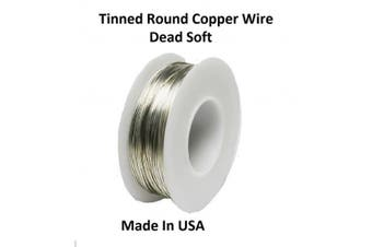 Modern Findings 26 Ga Tinned Copper Round Wire 100m Spool
