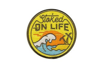 (Stoked on Life) - Asilda Store Embroidered Sew or Iron-on Patch (Stoked on Life)