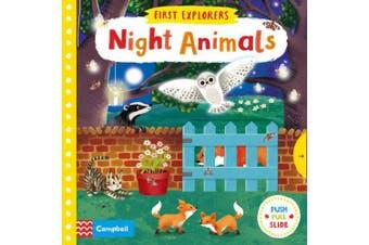 Night Animals (First Explorers) [Board book]