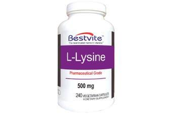 L-Lysine 500mg (240 Vegetarian Capsules)
