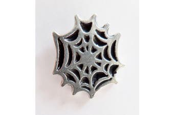 Spider's Web Wild Cobweb Pewter Pin Badge - Hand Made in Cornwall