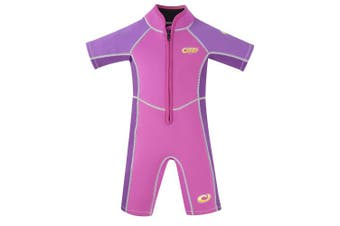 (Age 1, Oyster - Pink) - Osprey Toddlers 3 mm Shorty Summer Wetsuit Origin with SPF 50+, Multiple Colours