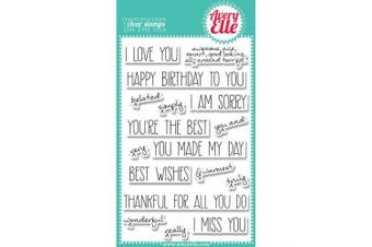 (handwrittennotes) - Avery Elle Clear Stamp Set 10cm x 15cm