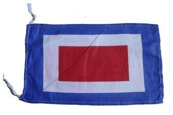 W - Marine Code Naval Signal Flag , 100% Cotton , 20cm X 33cm - Nautical / Boat / Maritime