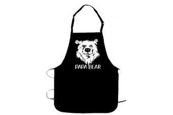 (Papa Bear) - Papa Bear - BBQ Grill Apron - Funny Apron For Dad or Grandpa - 1 Size Fits All Chef Apron Poly/Cotton 4 Utility Pockets, Adjustable Neck and Extra Long Waist Ties