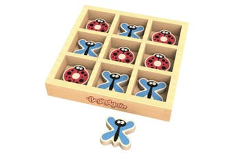 BeginAgain TicBugToe - Tic Tac Toe Travel Game for Kids of All Ages - Dragonflies & Ladybugs Will Delight in this Travelling Game