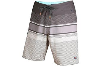 (Size 40, Carbon) - Cova Men's Tidal High Performance Board Shorts