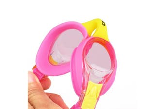 (A-K1 Hot Pink) - COPOZZ Kids Swimming Goggles, Child (Age 4-12) Waterproof Swim Goggles Clear Vision Anti Fog UV Protection No Leak Soft Silicone Frame for Kid Toddler Boys Girls