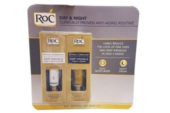 Roc Deep Wrinkle Daily Moisturiser Spf30 and Deep Wrinkle Night Cream, 30ml Each