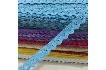 (blue) - OZXCHIXU(TM) 2 metres Sewing Lace Ribbon Trim Guipure 15mm width for Scrapbooking Gift Packing (blue)