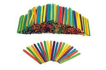 Coloured Wood Craft Sticks - 1000 Pieces