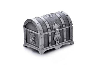 REINDEAR Vintage Pewter Tooth Fairy Treasure Chest Box