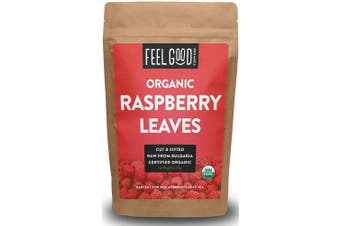 Organic Red Raspberry Leaves - Cut & Sifted - 120ml Resealable Bag - 100% Raw From Bulgaria