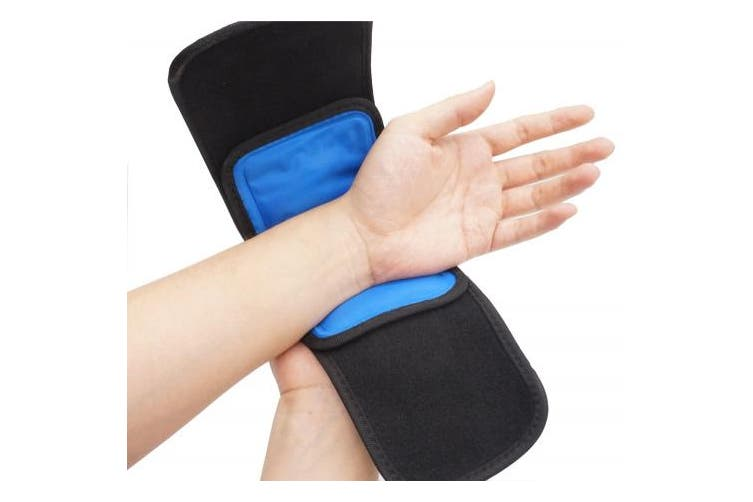 Cold & Hot Therapy Wrap by Bodyprox- Reusable Gel Pack for Pain Relief: Great for Sprains, Muscle Pain, Bruises, Injuries, Etc. (Foot, Arm, Elbow, Knee, Ankle).