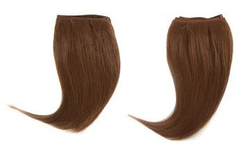 Chear Euro Silky Straight 2-in-1 Weft Human Hair Extension with Premium Blend Weave Number 30, Medium Auburn 8-Inch