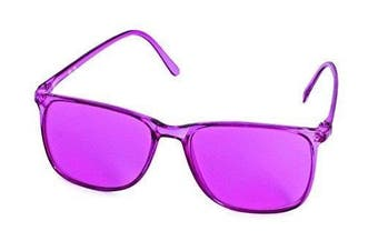 """(- baker-miller-pink) - 'Colour therapy glasses """"Elegant in 12Different Colours"""