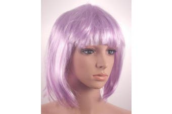 Fashionable Pretty Short Lilac Bob Babe Wig Girls Ladies 20s 60s 70s 80s 90s Fancy Dress Party Cosplay Hairstyle