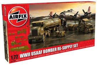 Airfix A06304 USAAF 8th Air Force Bomber Resupply Set Model, Multi Colour