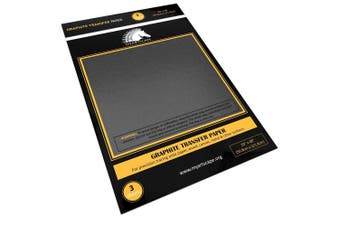 Graphite Transfer Tracing Paper - 3 Sheets - 50cm x 120cm - Carbon Paper by MyArtscape (Black)
