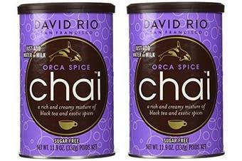 David Rio Sugar Free Orca Spice Chai Tea Mix - 350ml Canister