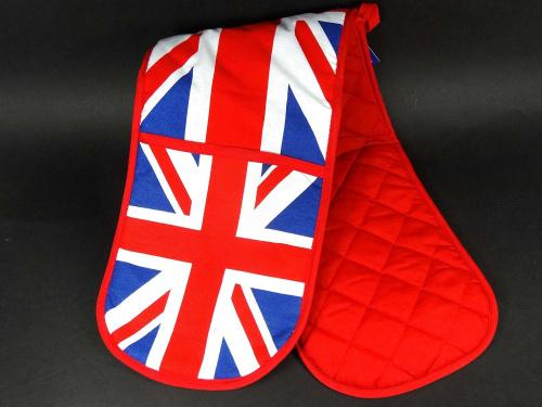 Union Jack Print Double Oven Glove London Collectable Souvenir Gift