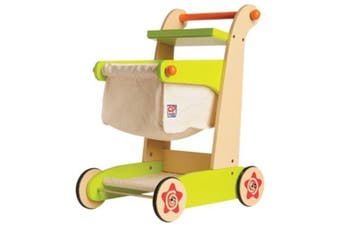 CP Toys Kid-sized Wooden Shopping Cart - For Pretend Play by Constructive Playthings