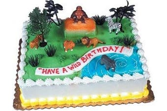 (Wild Rain Forest) - Cake Decorating Kit CupCake Decorating Kit Sports Toys (Wild Rain Forest)