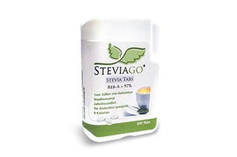 STEVIAGO Stevia Tablets in dispenser (Reb-A _ 97%) refillable, 200 Stevia Tabs