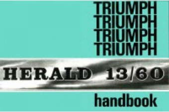 Triumph Herald 13/60 Official Owners' Handbook: (545037)