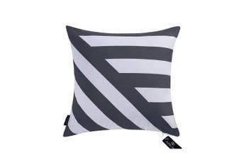 "(43cmX43cm, 17""X17"", Decor Printed Slate Blue) - Aitliving Couch Pillow Cover Chevron Stripes 43x 43cmCotton Canvas Cushion Cover Slate Blue Zig zag Striped Cotton Print Bold Twisted Stripes Decorative Pillowcase 1PC 43cm x 43cm Navy Muted Dark Blue"