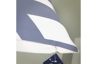 "(30cm(30.5cm) X 50cm, 12""X20"", Decor Printed Blue) - Aitliving Pillow Cushion Cover Chevron 30X50cm Cotton Canvas Decorative Pillowcase Zig zag Blue Striped Handmade Cotton Print Bold Twisted Stripes 1 PC 30cm x 50cm"