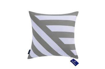 "(43cmX43cm, 17""X17"", Decor Printed Silver Grey) - Aitliving Decorative Pillow Covers Chevron Stripes 43x 43cm Cotton Canvas Handmade Cotton Printed Cushion Cover Zigzag Striped Silver Grey Bold Twisted Striped Sofa Couch Pillowcase 1 PC Light Grey 43cm"
