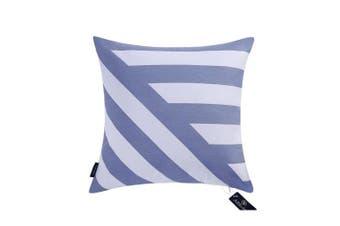 "(50cmX50cm, 20""x20"", Decor Printed Blue) - Aitliving Decorative Pillow Cover Chevron Striped 50X50cm Cotton Canvas Sofa Bed Pillow Covers Blue Zig zag Stripes Handmade Cotton Print Bold Twisted Stripes 1 PC 50cm x 50cm"
