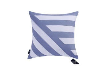 "(43cmX43cm, 17""X17"", Decor Printed Blue) - Aitliving Sofa Pillow Covers Chevron Stripes 43X43cm Cotton Canvas Decorative Pillow Cover Blue Striped Zig zag Handmade Cotton Print Bold Twisted Stripes Couch Pillowcase 1 PC 43cm x 43cm"
