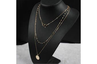 A & C Fashion Bohemia 3 Tier Chain Jewellery Necklace for Women. Unique Hot Chic Fate's Circularity Necklace for Girl.