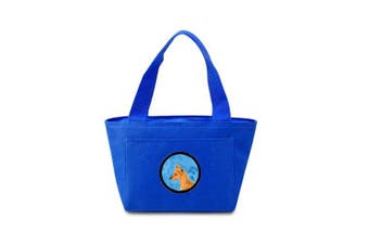 Caroline's Treasures SS4742-BU Min Pin Lunch or Doggie Bag, Large, Blue