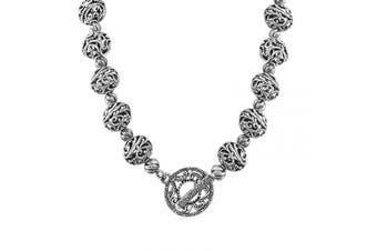 Carolyn Pollack Signature Sterling Silver Bead Toggle Necklace, 41cm