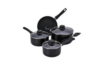 Proctor Silex 7 Piece Aluminium Cookware Set with Non-Stick Interior, Large, Black