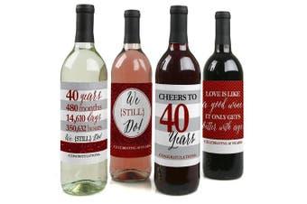 We Still Do - 40th Wedding Anniversary Wine Bottle Labels - Set of 4
