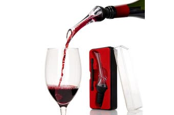 (Woodpecker) - Katzs® Luxury Red & White Wine Aerating Pourer and Decanter Spout(Woodpecker) Gift Box Set