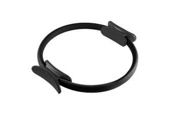 (Black) - Wakeman Fitness Pilates Dual Grip Toning Ring