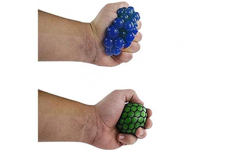 Bingole 4PCS Randomly Mesh Squishy Balls Stress Relief Squeeze Grape Balls Relieve Pressure Balls
