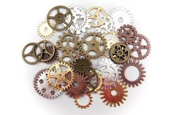 (MIX) - ALL in ONE 30pcs Steampunk Gear Wheel Charms Cog Connectors Pendants Jewellery Finding DIY Craft (MIX)