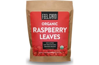 Organic Red Raspberry Leaves - Cut & Sifted - 470ml Resealable Bag (0.5kg) - 100% Raw From Bulgaria