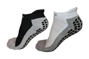 (White) - #1 Non Slip Ankle Socks, THE BEST Adult Hospital and Home Care Socks, Skid Resistant, Slipper Socks, Unisex Gripper Socks
