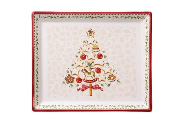 (Pastry plate (small)) - Villeroy & Boch Cake Platter, Porcelain, Multi-colour, 27 x 22,5 x 5 cm, Pastry plate (small)