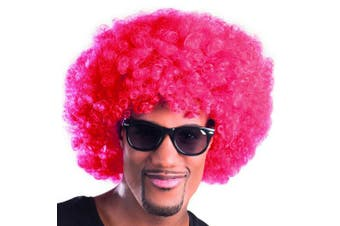 (red) - 1970s Red Afro Wig Adults Fancy Dress 70s Retro Mens Ladies Costume Accessory