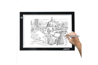 (6000K - White) - AGPtek New A4 LED Artcraft Tracing Light Pad Extra Large Active Area 12.6 x 9 inch Ultra-thin Only 5mm Stepless Brightness Control Tatoo Pad Aniamtion, Sketching, Designing, Stencilling