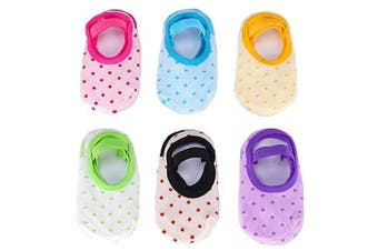 GHB Baby Socks 6 Pairs Anti Skid Slip Socks for 8-36 Months Toddler and Infants